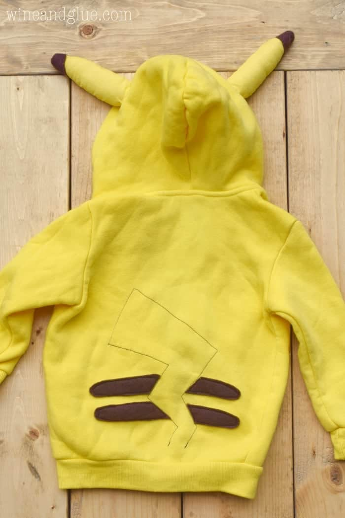 This DIY Pikachu Costume is maybe the cutest Pokémon Costume ever! And a sweatshirt that the kiddos can wear over and over. Free PDF pattern files for the different pieces!