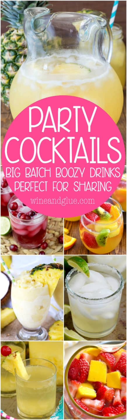 These Party Cocktails are perfect for making for a crowd! They make a big pitcher's worth (or more!) and are perfect for your parties, BBQ's and get togethers!