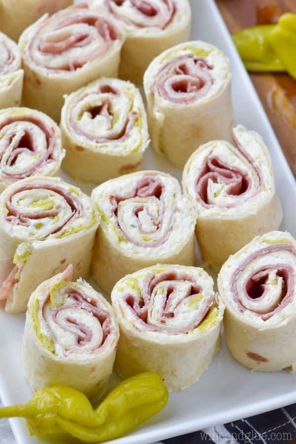 These Italian Pinwheels are super easy to throw together and make for a delicious appetizer!
