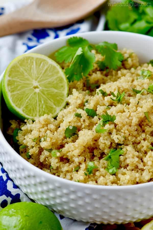 bowl of cilantro lime quinoa