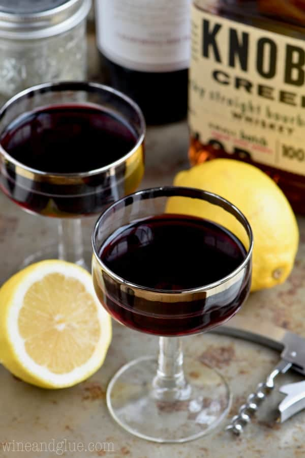 This Whiskey and Wine Cocktail is the most unexpected amazing combination ever! Try it and you will be hooked!