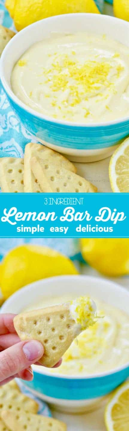 This Lemon Bar Dip is only 3 INGREDIENTS and is so simple easy and delicious!