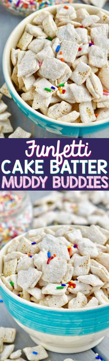 Stupendous Funfetti Cake Batter Muddy Buddies Wine Glue Personalised Birthday Cards Rectzonderlifede