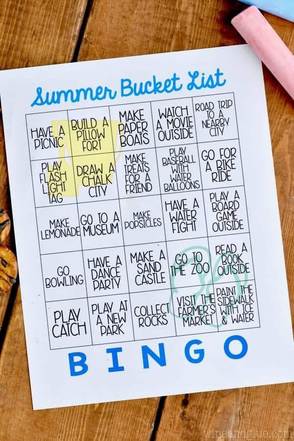 This Free Printable Summer Bucket List Bingo is such a fun way to have go to ideas for summer days!