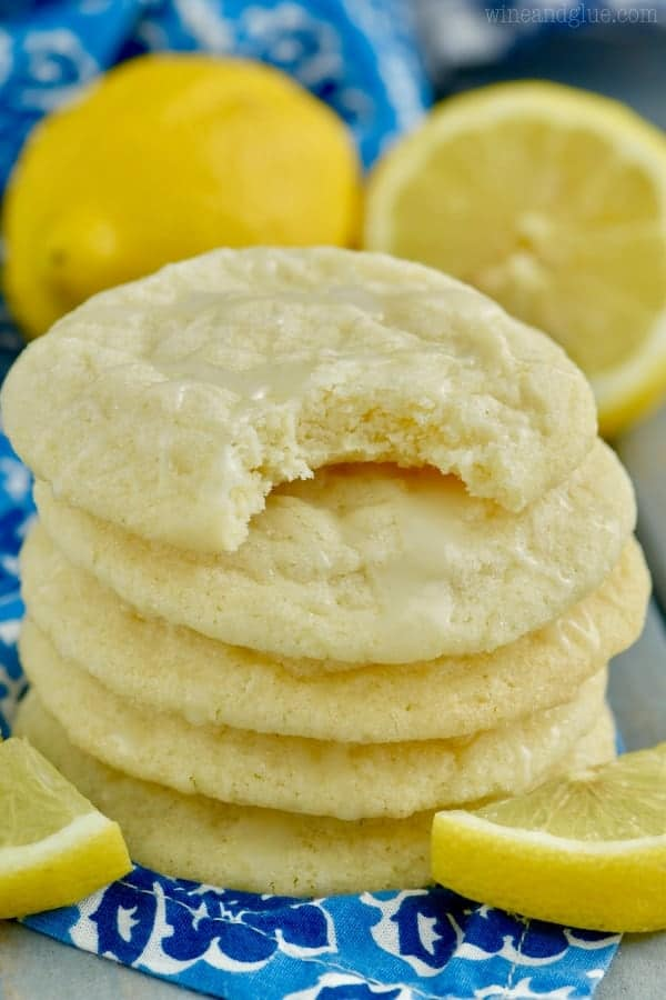 Lemon Sugar Cookies are crisp on the outside, soft on the inside with the perfect hint of lemon and a simple lemon icing on top. They're melt in your mouth delicious!