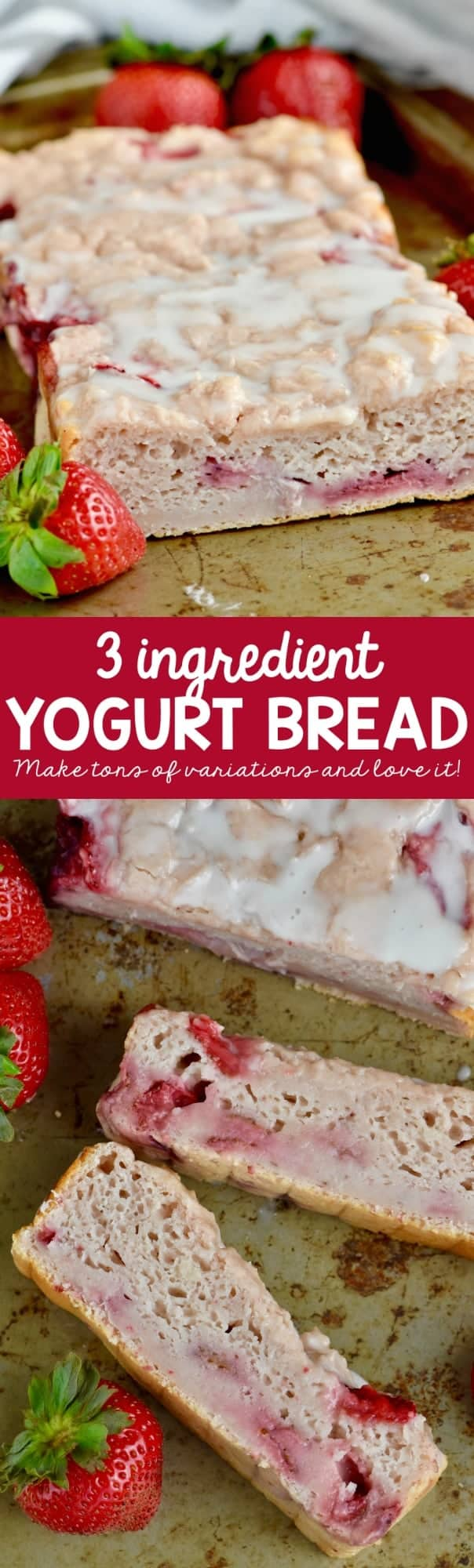 This Three Ingredient Yogurt Bread is so easy to whip up that the kids can do it!
