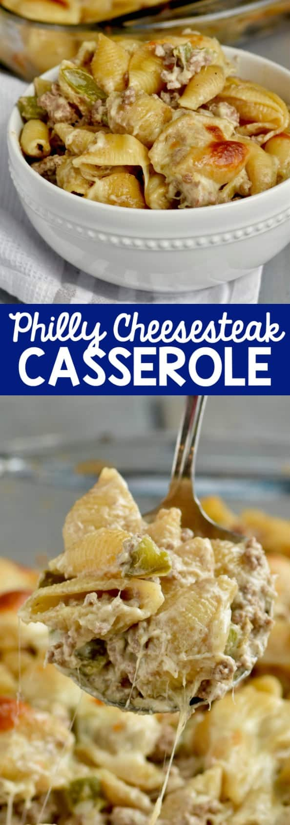 This Philly Cheese Steak Casserole is such an easy delicious dinner!