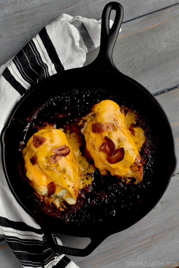 This Bacon Cheddar Ranch Stuffed Chicken Breast recipe is sure to be a huge hit in your house!