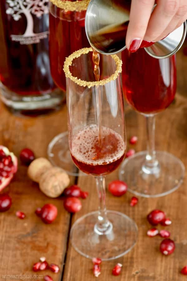 This Cranberry Pomegranate Cocktail starts with pomegranate liquor and is so perfect!