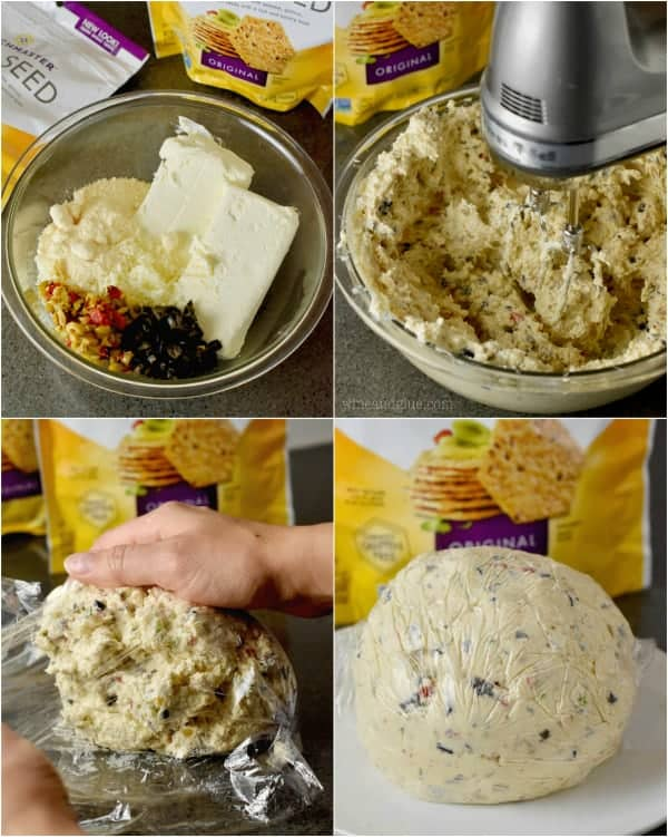 This Olive Cheeseball is so easy to make!
