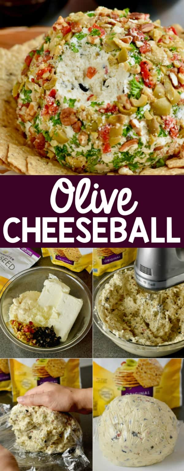 This delicious Olive Cheeseball needs to be part of your next cocktail party!