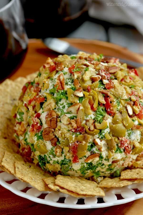 This Olive Cheeseball is a must for your next party!