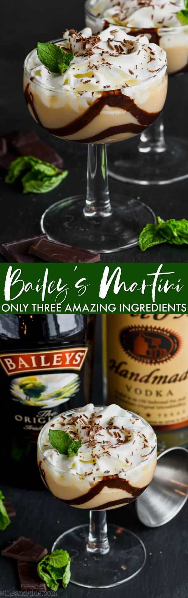 collage of baileys chocolate martini photos