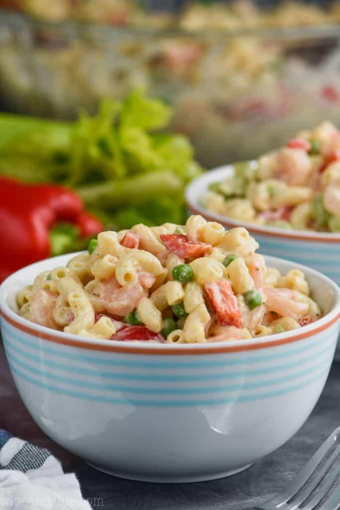 bowl of shrimp pasta salad recipes