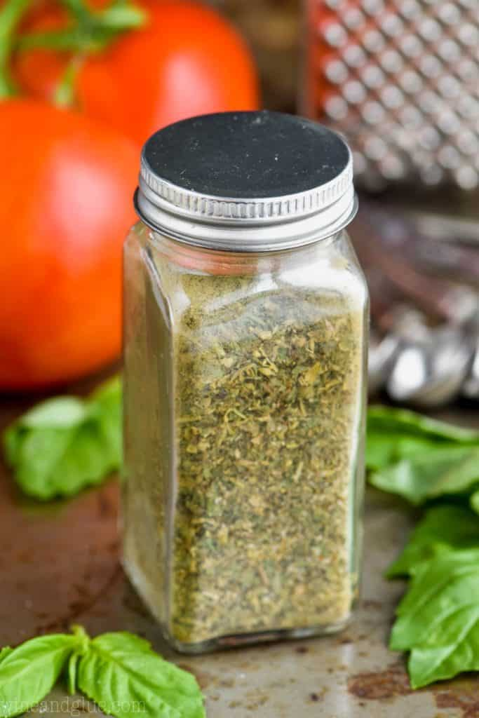 spice bottle full of italian seasoning
