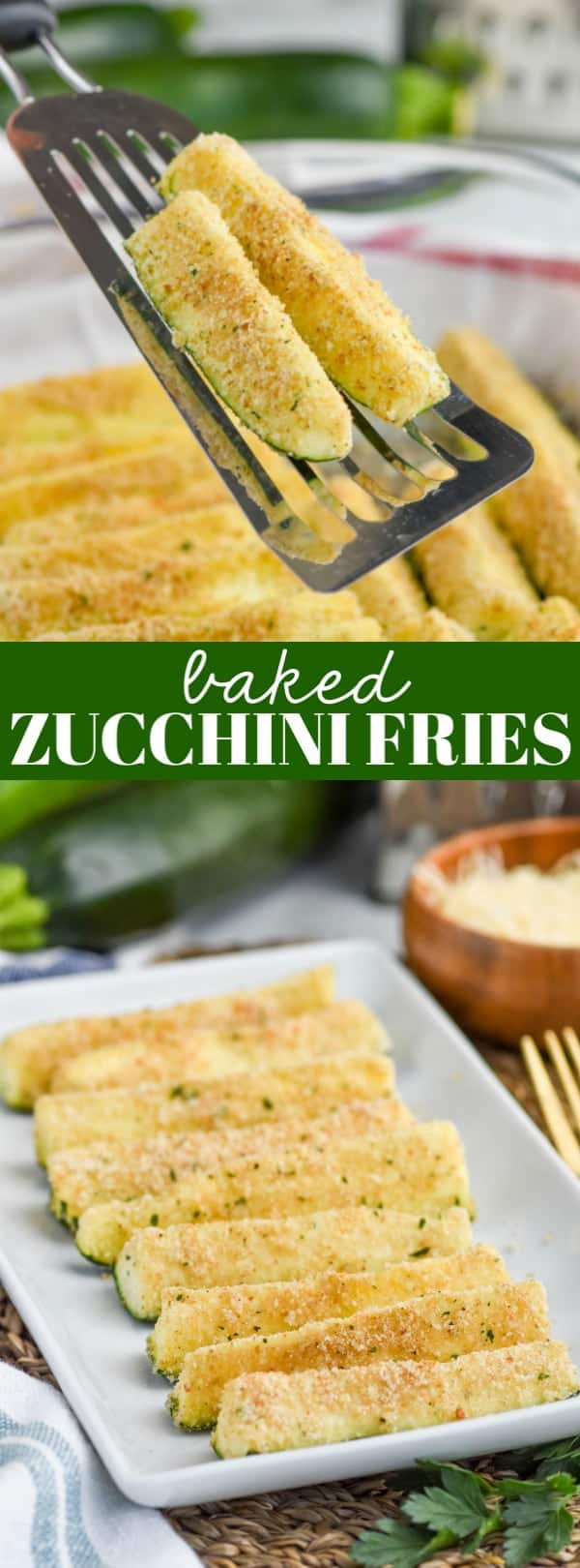 spatula holding zucchini fries recipe