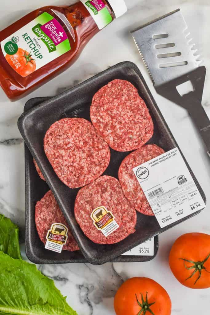 picture of hamburgers in their packaging