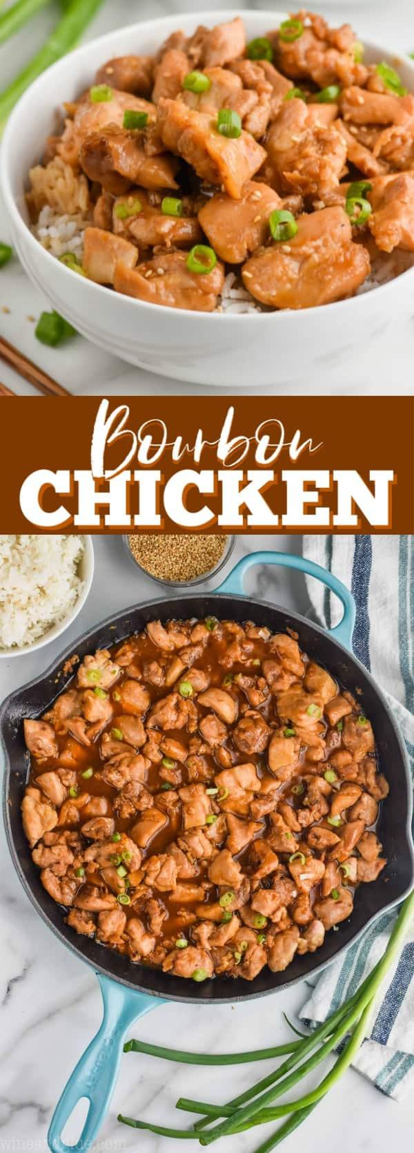 up close view of bourbon chicken recipe