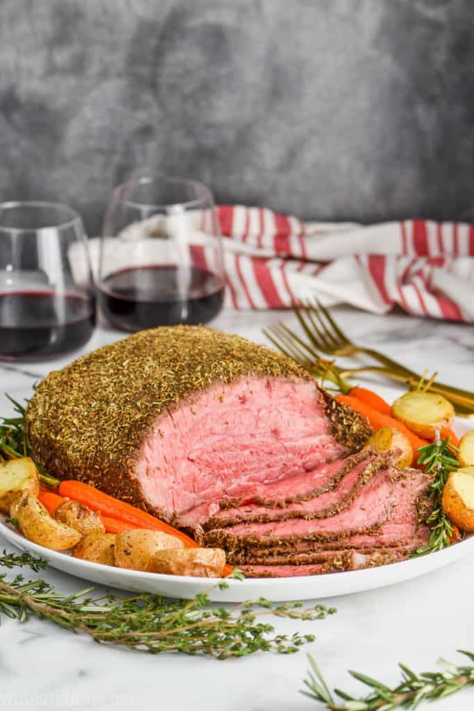 a picture of the best roast beef recipe, sliced