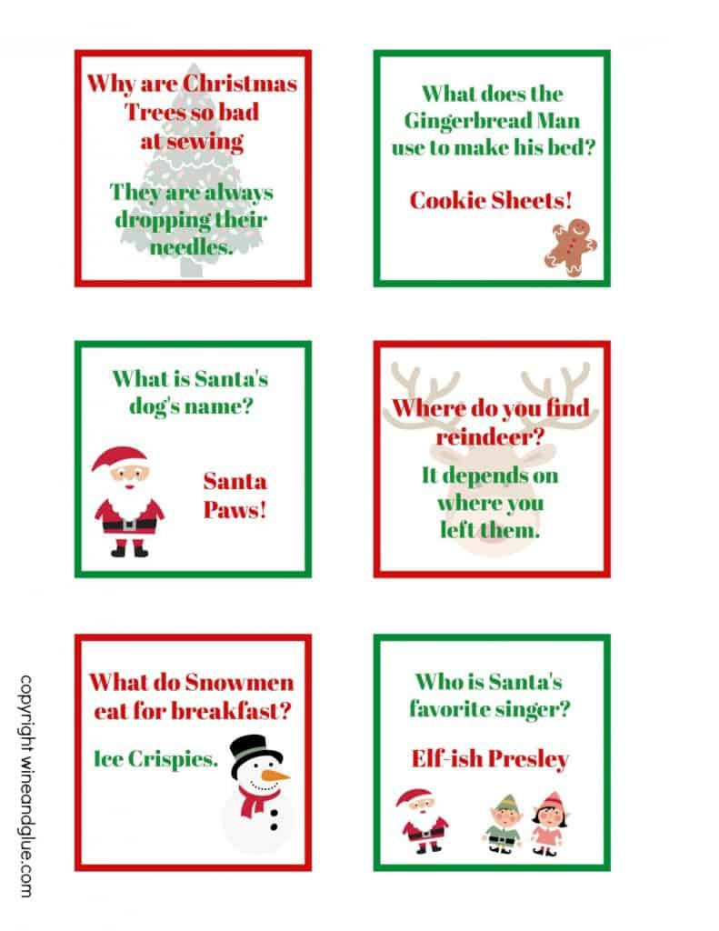 sheet of printable lunch box jokes