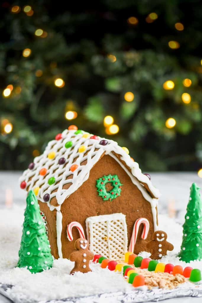 ginger bread house recipe fully decorated