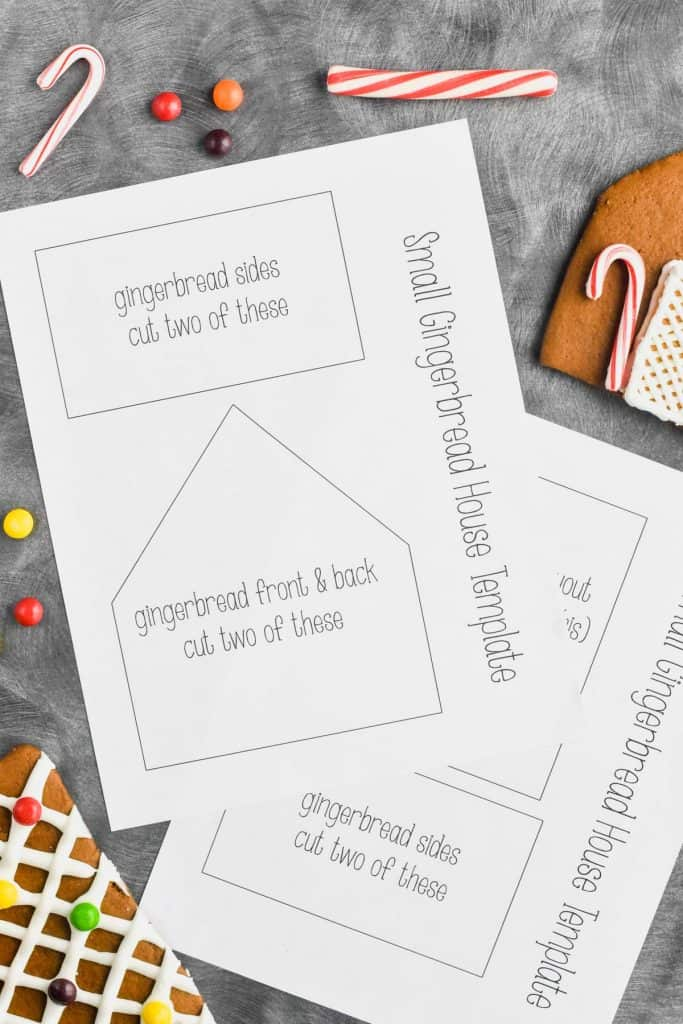 It's just an image of Gingerbread House Templates Printable with regard to foldable