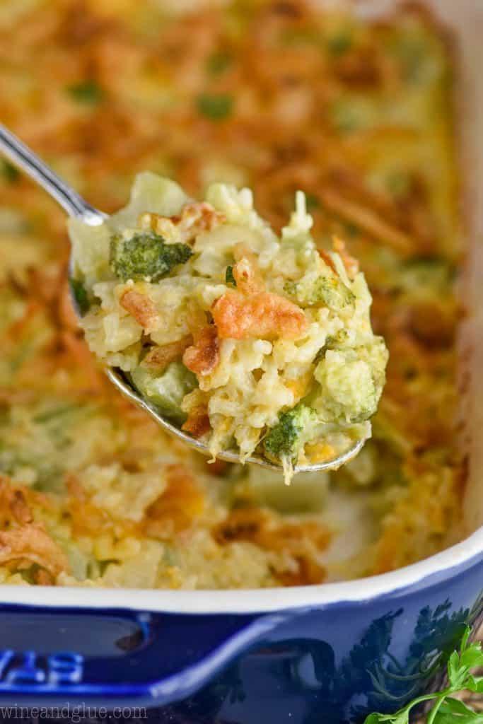 spoonful of broccoli rice casserole recipe