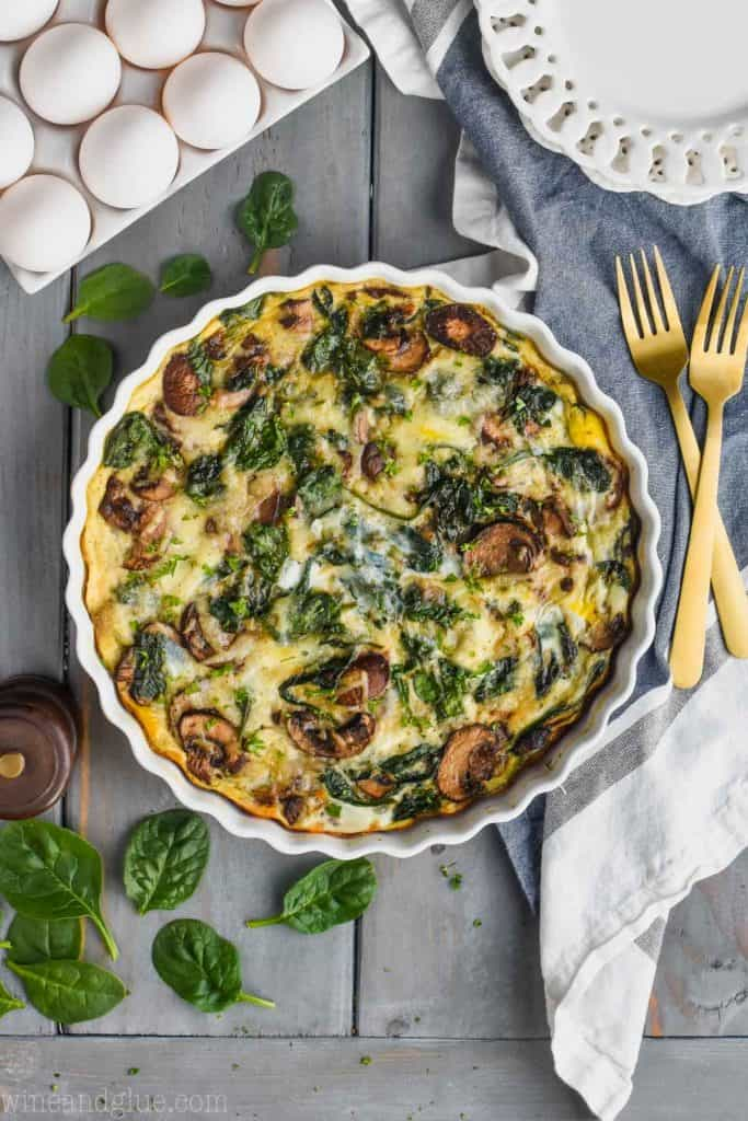 Crustless Spinach Quiche Simple Joy