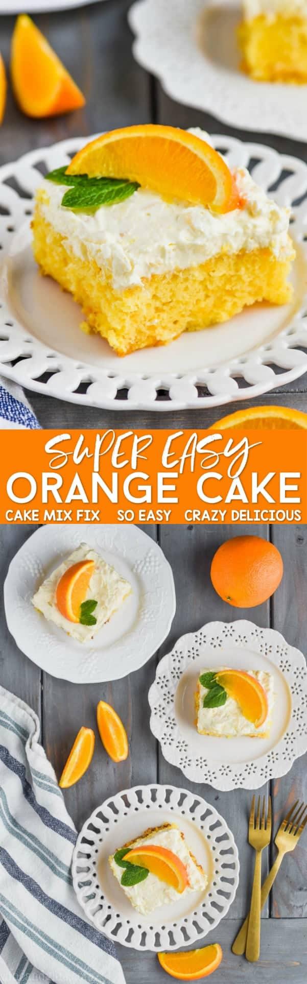 collage of mandarin orange cake recipe