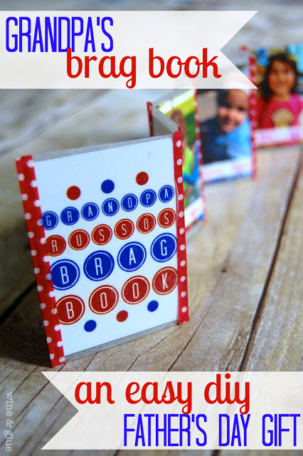 An easy DIY gift that any grandparent will treasure! via www.wineandglue.com