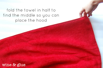 A FREE Hooded Towel pattern that fits babies to big kids!  via www.wineandglue.com