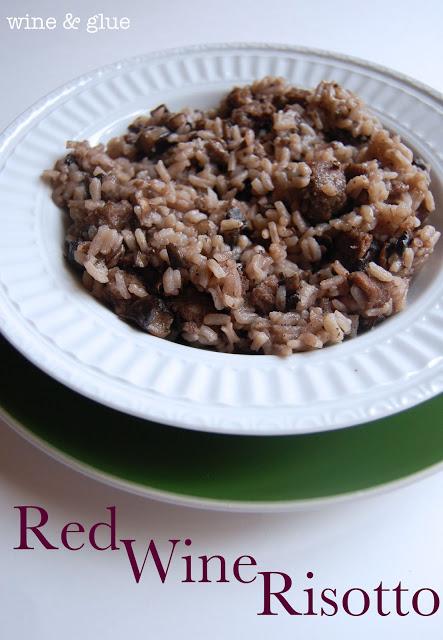 red wine mushroom sausage risotto