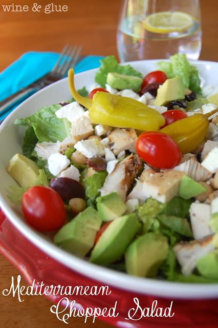 Mediterranean Chopped Salad | www.wineandglue.com | A simple, delicious, and super healthy meal