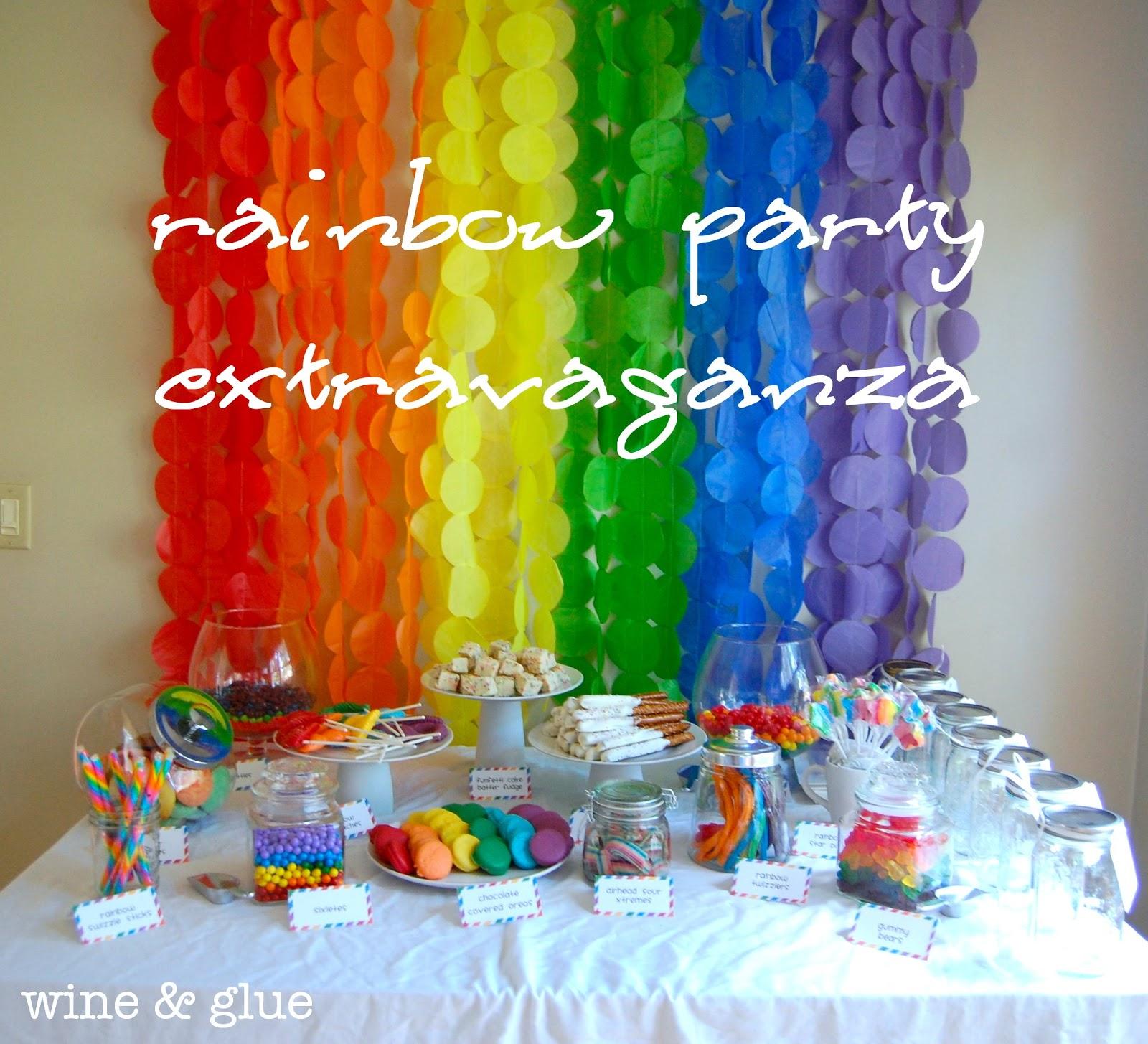 Rainbow Party Extravaganza! - Wine & Glue