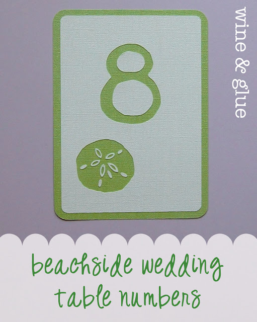 beach wedding sand dollar table number